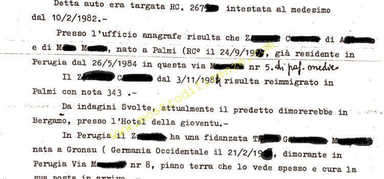 <b>22 Aprile 1986 Successivi accertamenti sulla segnalazione al casello FI Nord</b>