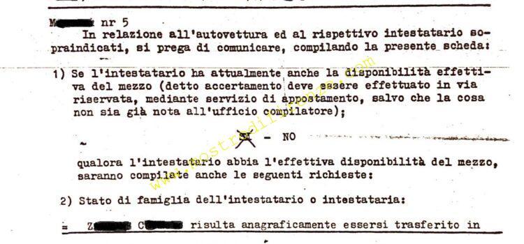 <b>4 aprile 1986 Accertamenti sulla segnalazione al casello FI Nord</b>