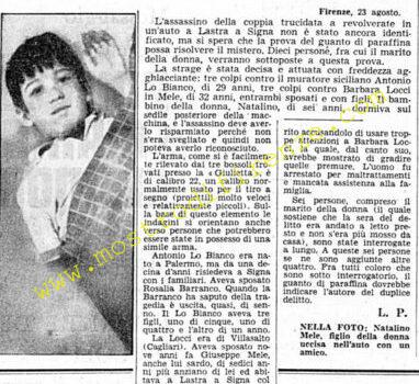 <b>23 Agosto 1968 Stampa: Corriere della Sera</b>