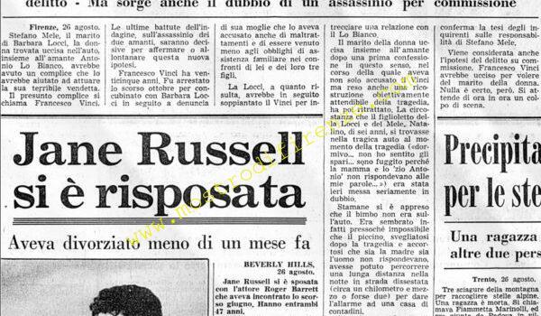 <b>26 Agosto 1968 Stampa: Corriere della Sera</b>