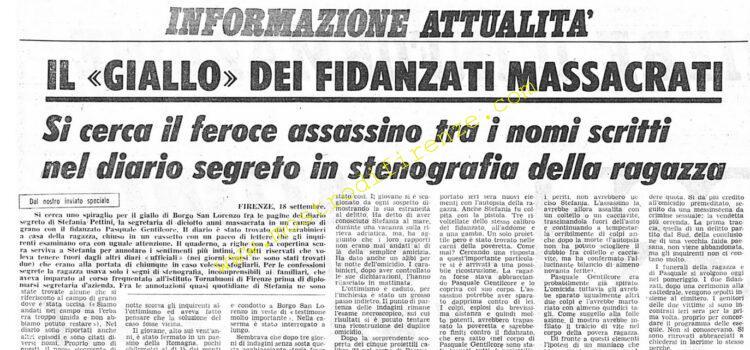 <b>18 Settembre 1974 Stampa: Corriere della Sera</b>
