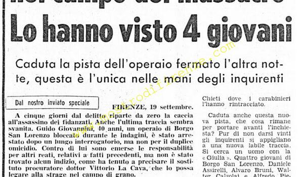 <b>19 Settembre 1974 Stampa: Corriere della Sera</b>