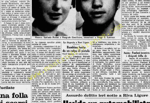 <b>16 Settembre 1974 Stampa: Stampa Sera Pag. 2 e 7</b>