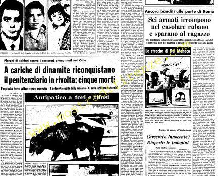 <b>23 Agosto 1968 Stampa: Unità pag.5</b>