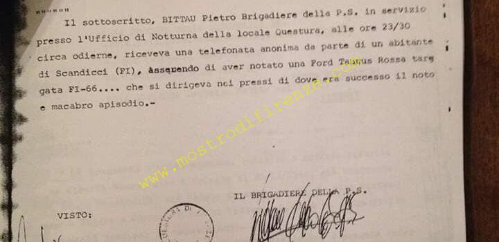 <b>11 Giugno 1981 Relazione di Servizio telefonata anonima a Sergio Bittau</b>