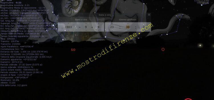 <b>9 Settembre 1983 La luna</b>