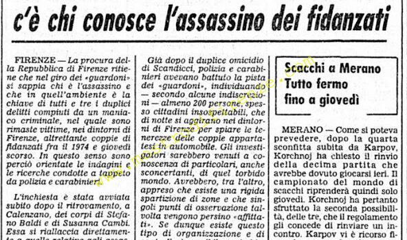 <b>27 Settembre 1974 Stampa: Corriere della Sera</b>