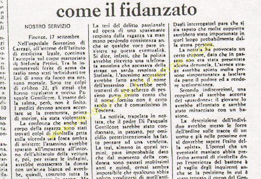 <b>18 Settembre 1974 Stampa: Messaggero</b>