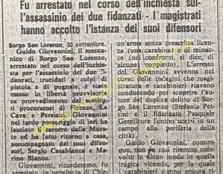 <b>1 Ottobre 1974 Stampa: La Nazione pag 11</b>
