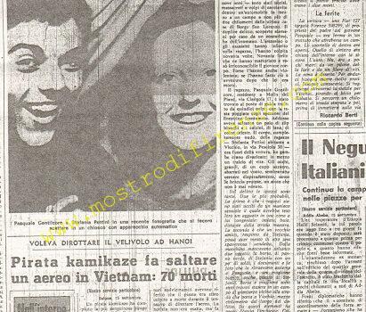 <b>16 Settembre 1974 Stampa: La Nazione pag 1 e 2</b>