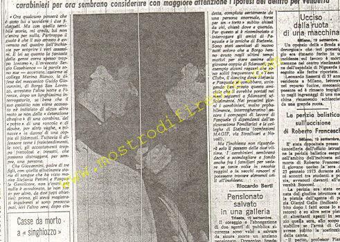 <b>20 Settembre 1974 Stampa: La Nazione pag 5</b>