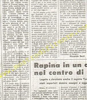 <b>21 Settembre 1974 Stampa: La Nazione pag 5</b>