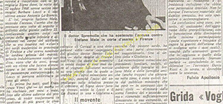 <b>25 Marzo 1970 Stampa: La Nazione pag.7</b>