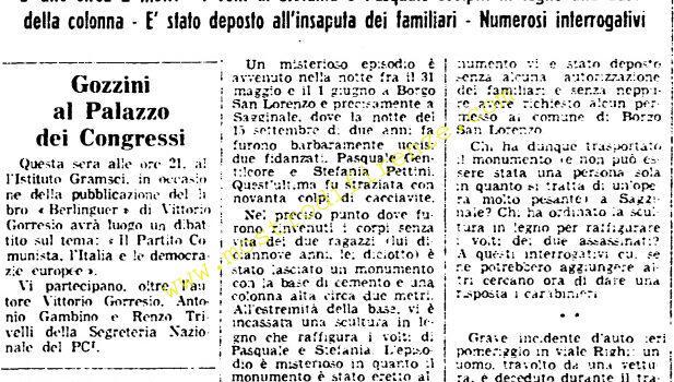 <b>3 Giugno 1976 Stampa: Unità pag.10</b>