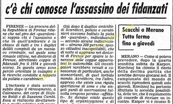 <b>27 Ottobre 1981 Stampa: Corriere della Sera</b>