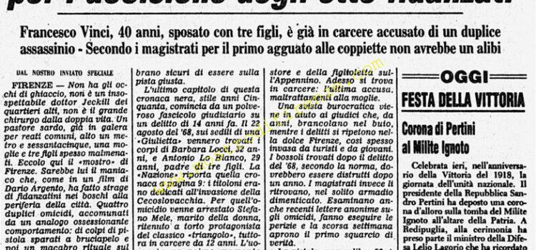 <b>8 Novembre 1982 Stampa: Corriere della Sera</b>