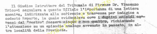 <b>20 Agosto 1982 Richiesta di invio della lettera anonima all'ufficio di della Monica</b>