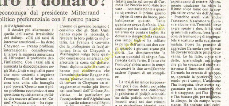 <b>10 Giugno 1981 Stampa: La Nazione</b>