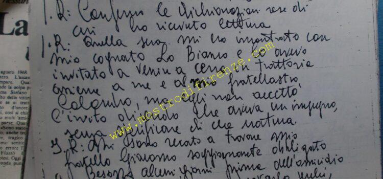 <b>24 Agosto 1968 Trascrizione testimonianza Giuseppe Barranca</b>