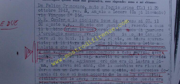 <b>7 ottobre 1968 Trascrizione testimonianza Francesco De Felice</b>