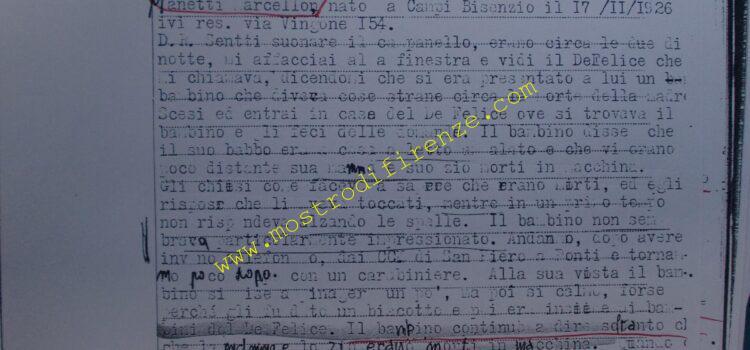 <b>7 ottobre 1968 Trascrizione testimonianza Marcello Manetti</b>