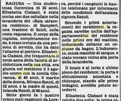 <b>23 Luglio 1982 Stampa: Stampa Sera Pag.10</b>