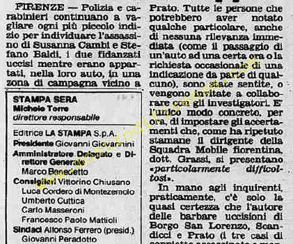 <b>26 Ottobre 1981 Stampa: Stampa Sera Pag 2</b>