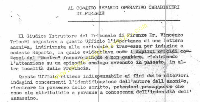 <b>7 Novembre 1982 Il Cittadino Amico aiuta la memoria dei Francesco Fiori</b>