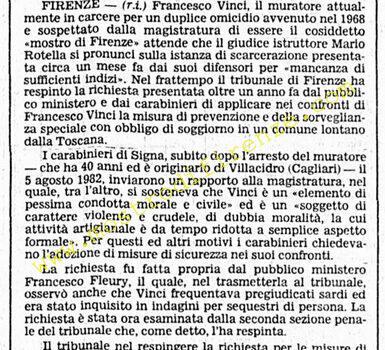 <b>3 Novembre 1983 Stampa: Corriere della Sera</b>