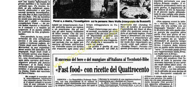 <b>26 Novembre 1984 Stampa: Corriere della Sera</b>