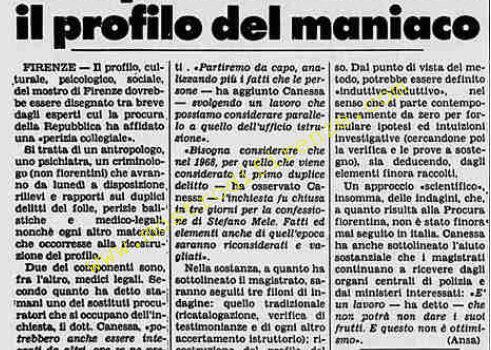 <b>1 Settembre 1984 Stampa: La Stampa</b>