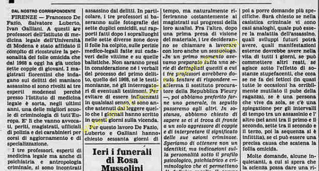 <b>4 Settembre 1984 Stampa: La Stampa</b>