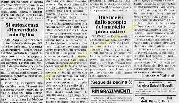 <b>13 Settembre 1983 Stampa: La Stampa</b>