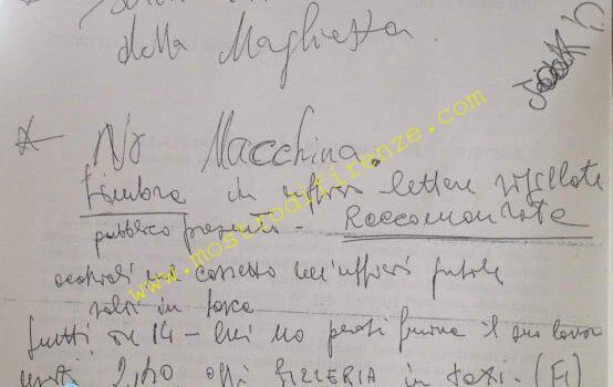 <b>10 Settembre 1985 Attività investigativa di Luigi Napoleoni</b>