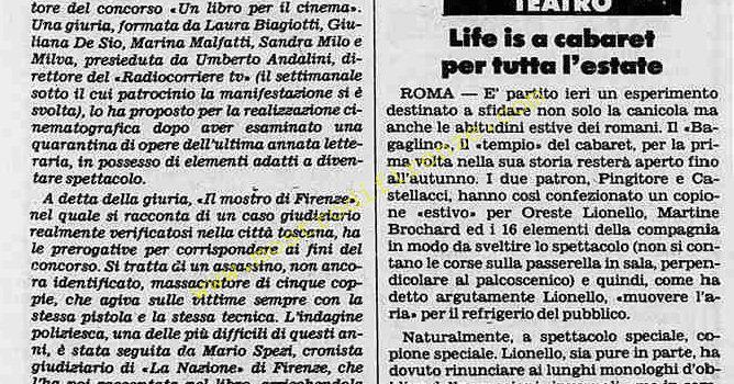 <b>15 Giugno 1983 Stampa: Stampa Sera</b>