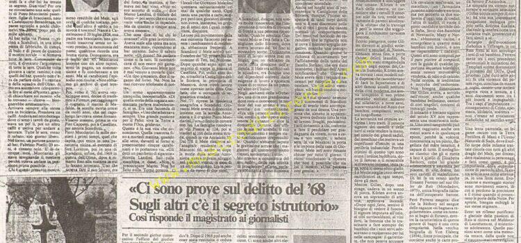 <b>28 Gennaio 1984 Stampa: La Nazione – Intervista a Mario Rotella</b>