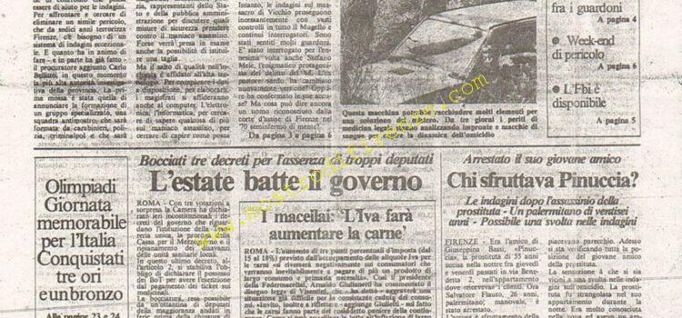 <b>3 Agosto 1984 Stampa: La Città</b>