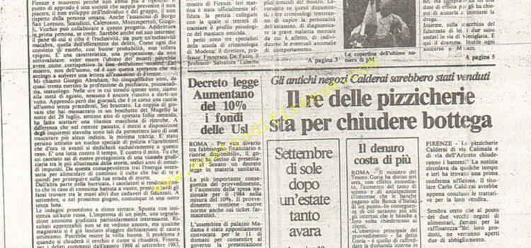 <b>4 Settembre 1984 Stampa: La Città</b>