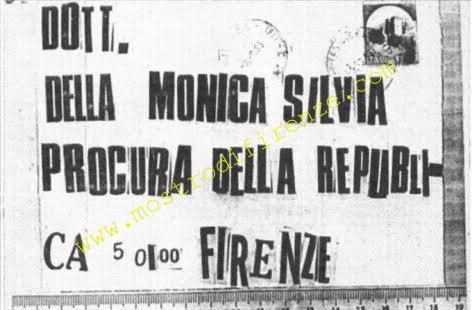 <b>10 Settembre 1985 Lettera anonima a Silvia Della Monica</b>