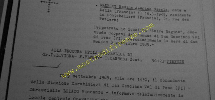 <b>14 Settembre 1985 Rapporto giudiziario Nunziato Torrisi delitto 1985</b>