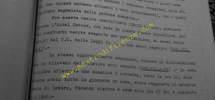 <b>14 Settembre 1985 Trascrizione rapporto giudiziario Nunziato Torrisi</b>