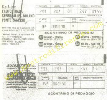 <b>4 Settembre 1985 Scontrini autostradali di Jean Michel Kraveichvili e Nadine Mauriot</b>