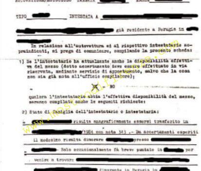 <b>I depistatori odierni e i documenti taroccati: segnalazione di Narducci a FI Nord</b>