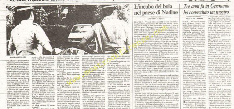 <b>12 Settembre 1985 Stampa: La Nazione</b>