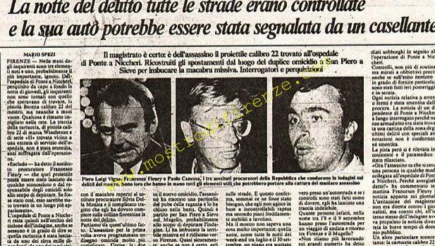 <b>1 Ottobre 1985 Recapitate due lettere anonime per Paolo Canessa e Francesco Fleury</b>