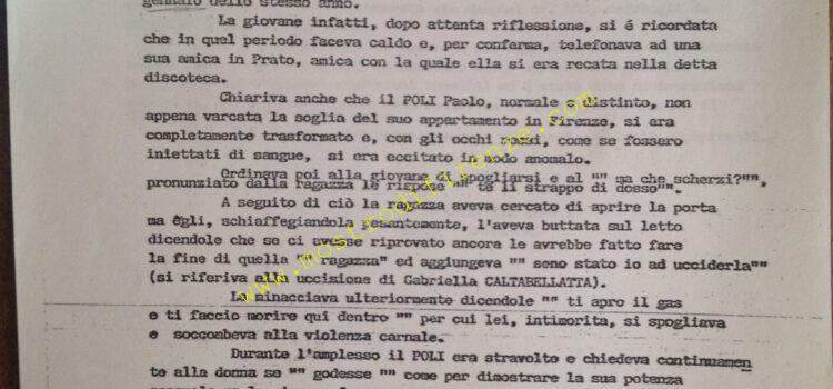<b>8 Ottobre 1985 Nota di Luigi Napoleoni al Dirigente S.M. di Perugia</b>