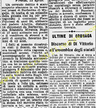 <b>14 Aprile 1951 Stampa: La Stampa</b>