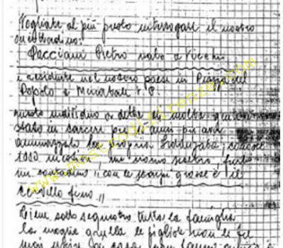 <b>18 Settembre 1985 Lettera anonima ai Carabinieri di San Casciano</b>