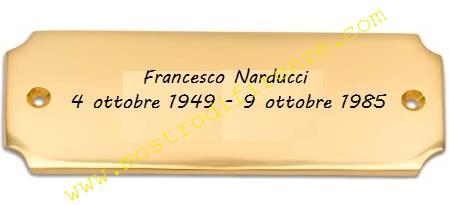 <b>14 Ottobre 1985 La targhetta sulla bara di Francesco Narducci</b>
