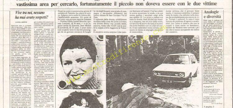 <b>10 Settembre 1985 Stampa: La Nazione</b>